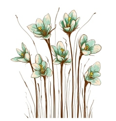 Vintage Flowers Composition vector image