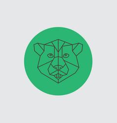 beaver abstract geometric portrait vector image
