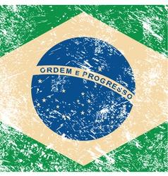 Brazil retro flag vector image