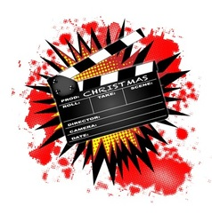 Christmas Clapperboard vector image vector image