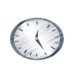 hand draw clock time business money color vector image