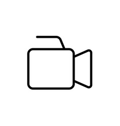 line video production camera icon vector image