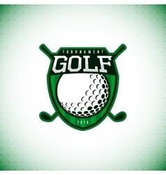 logo of golf championship vector image