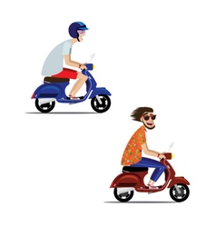 Motorcyclists set vector image