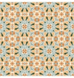 Orange and green pattern vector image