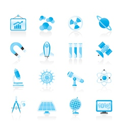 research and education Icons vector image