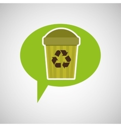 symbol recycle trashcan design vector image