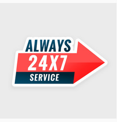 24 hours always service everyday background vector