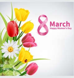 8 march realistic background vector image