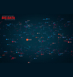 abstract colorful big data point plot vector image