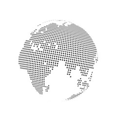 Abstract dotted globe earth vector