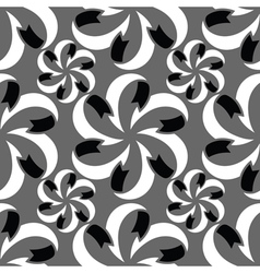 Abstract seamless pattern in black grey white vector