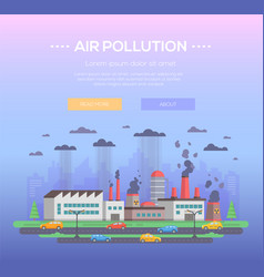 Air pollution - modern flat design style vector