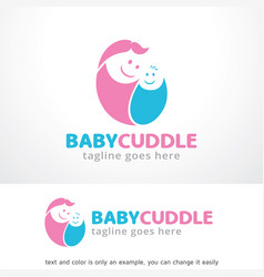 Baby cuddle logo template design vector