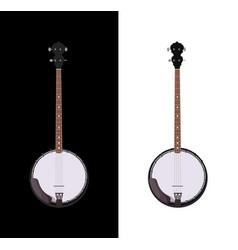 banjo isolated folk instrument vector image