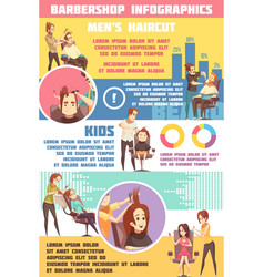 barbershop infographic set vector image