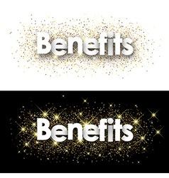 Benefits paper banners vector image