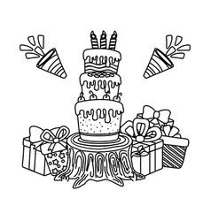 birthday party festive cartoon vector image