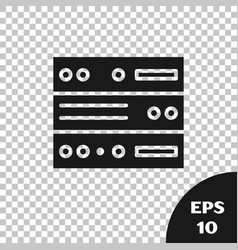 Black server data web hosting icon isolated on vector