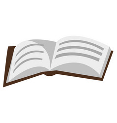 Book with pages and information data in manual vector