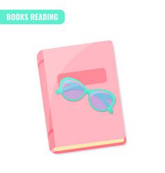 books reading i love books concept vector image