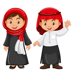 Boy and girl in irag outfit vector