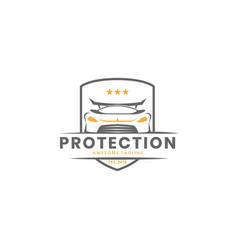 Car protection logo design inspiration vector