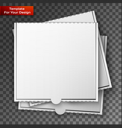 cardboard pizza box for your design vector image