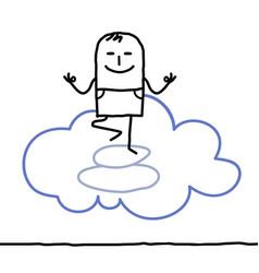 Cartoon character and yoga vector