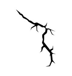 Cracks black silhouette vector