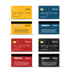 Credit or debet cards design set vector