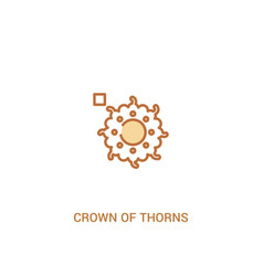 Crown thorns concept 2 colored icon simple vector
