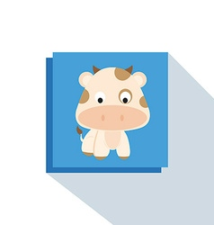 Cute cow vector image