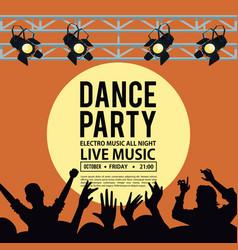 dance party invitation vector image