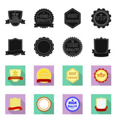 design of emblem and badge symbol set of vector image