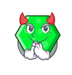 Devil octagon mascot cartoon style vector