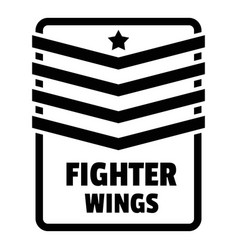 Fighter troop wings logo simple style vector