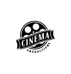 filmstrip roll tapes movie cinema video logo vector image