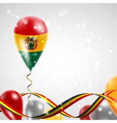 Flag of Bolivia on balloon vector