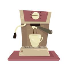 Flat coffee machine vector