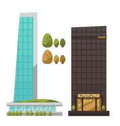 flat set modern urban architecture vector image