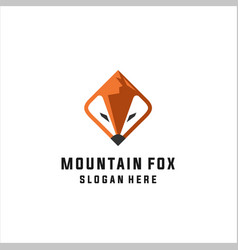 fox mountain logo vector image