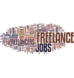 Freelance jobs text background word cloud concept vector