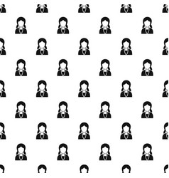 girl with hairstyle pattern vector image