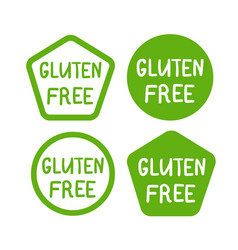 gluten free product icon isolated logo vector image