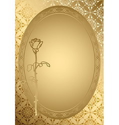 Gold romantic card with golden ornament vector