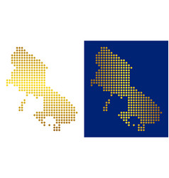 Golden dot skyros greek island map vector
