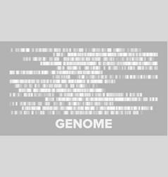 horizontal big genomic data visualization vector image
