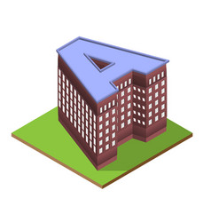 Isometric building letter a form vector