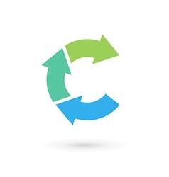 Letter C arrow logo icon design template elements vector image